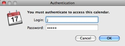 Ical-Subscribe-Auth